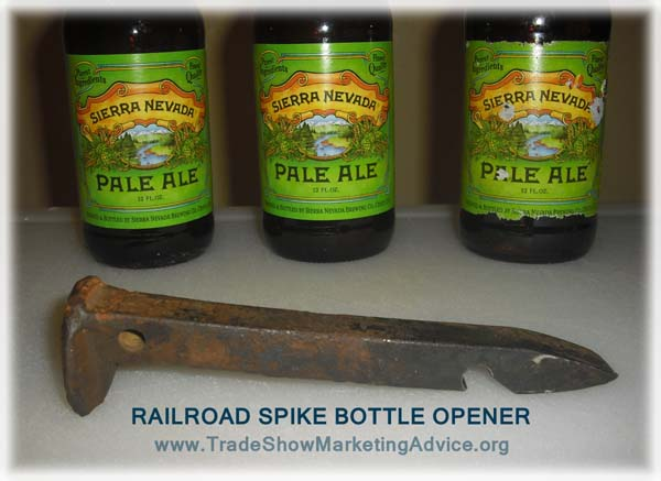 the original shark-mouth railroad spike beer bottle opener